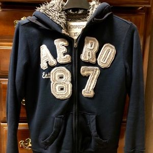 Aeropostale 87 XS/TP thick lined fleece hoodie
